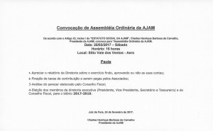 Assembléia Ordinária AJAM Março 2017